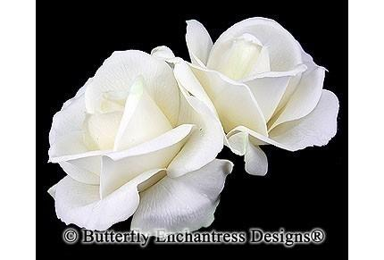 Свадьба - Wedding Hair Flowers, Bridal Hair Accessories, Fascinators, Headpiece - 2 Ivory Rose Flower Hair Clips