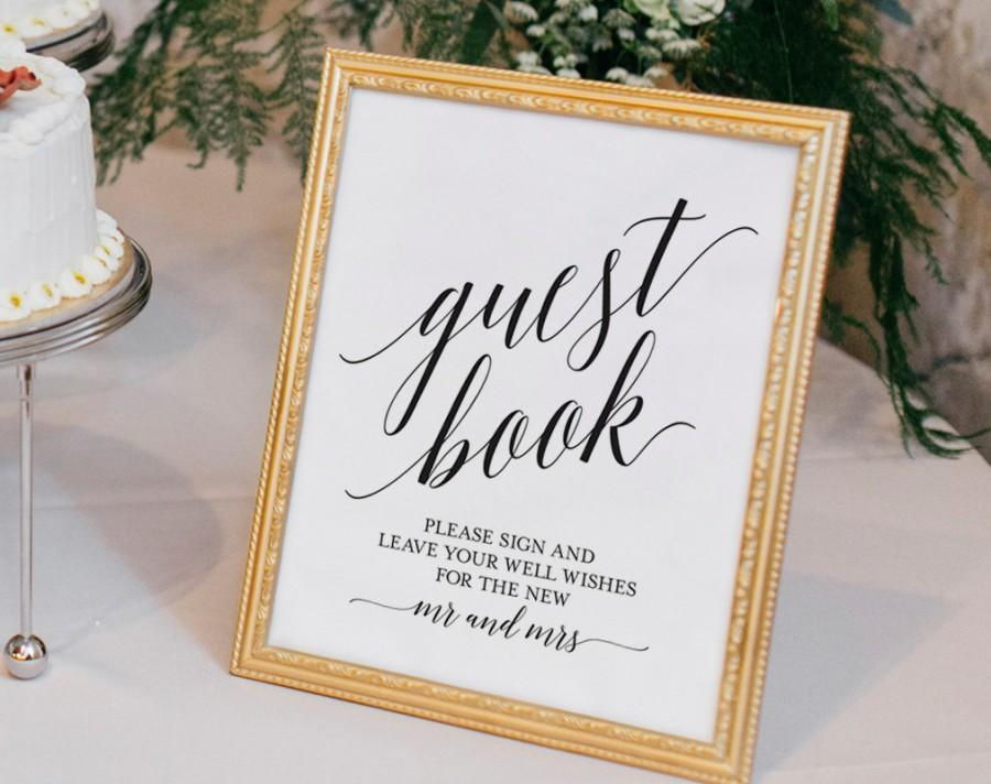 Guest Book Sign Wedding Ideas Printable Template Pdf Instant Bpb310 45c