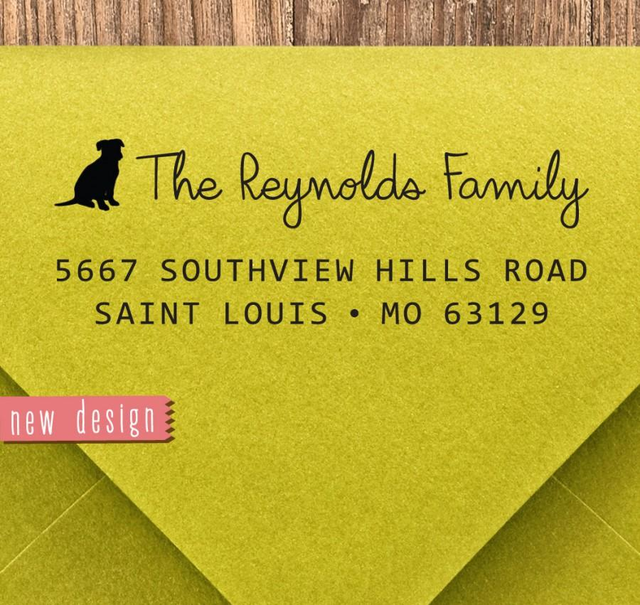زفاف - CUSTOM pre inked address STAMP from USA, custom address stamp, pre inked custom address stamp, address stamp with proof - dog lover RB5-11