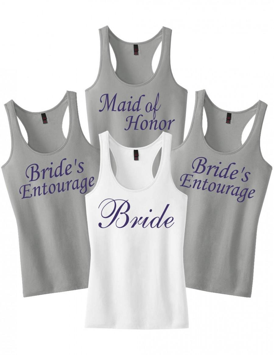 e20df0b5e381d Bachelorette Tanks.Set of 7 Bridesmaid Tank Tops.Bridesmaid Shirts.Bridal  Shirts.Wedding Shirts Bridesmaid tanks.Bridal Party Tank Tops Set