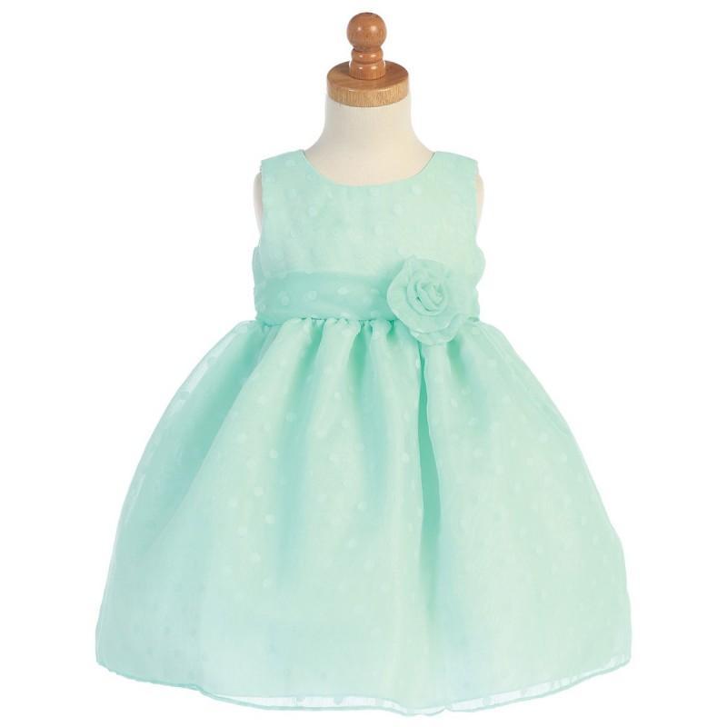 Wedding - Mint Polka Dot Burnout Dress Style: LM660 - Charming Wedding Party Dresses