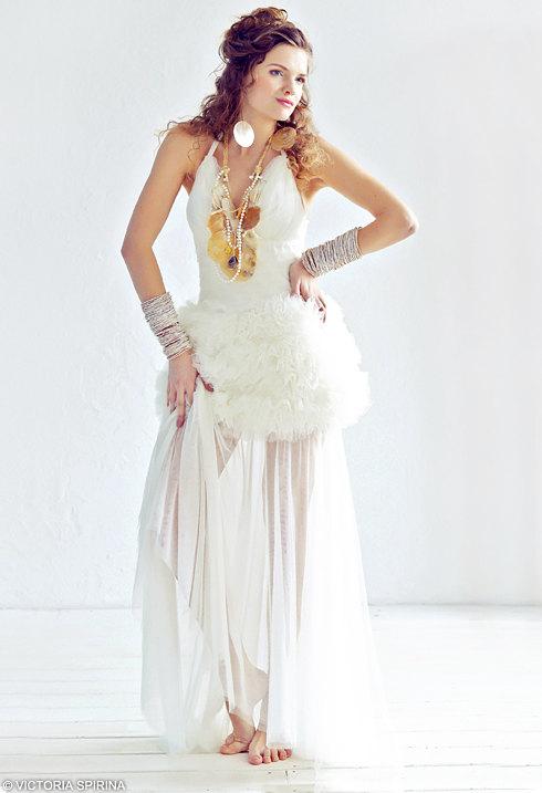 Sheila / Tulle Wedding Dress Alternative Wedding Dress Romantic ...