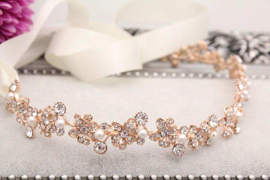 Wedding Hair Accessories Wedding Headband Rose Gold Bridal Headband