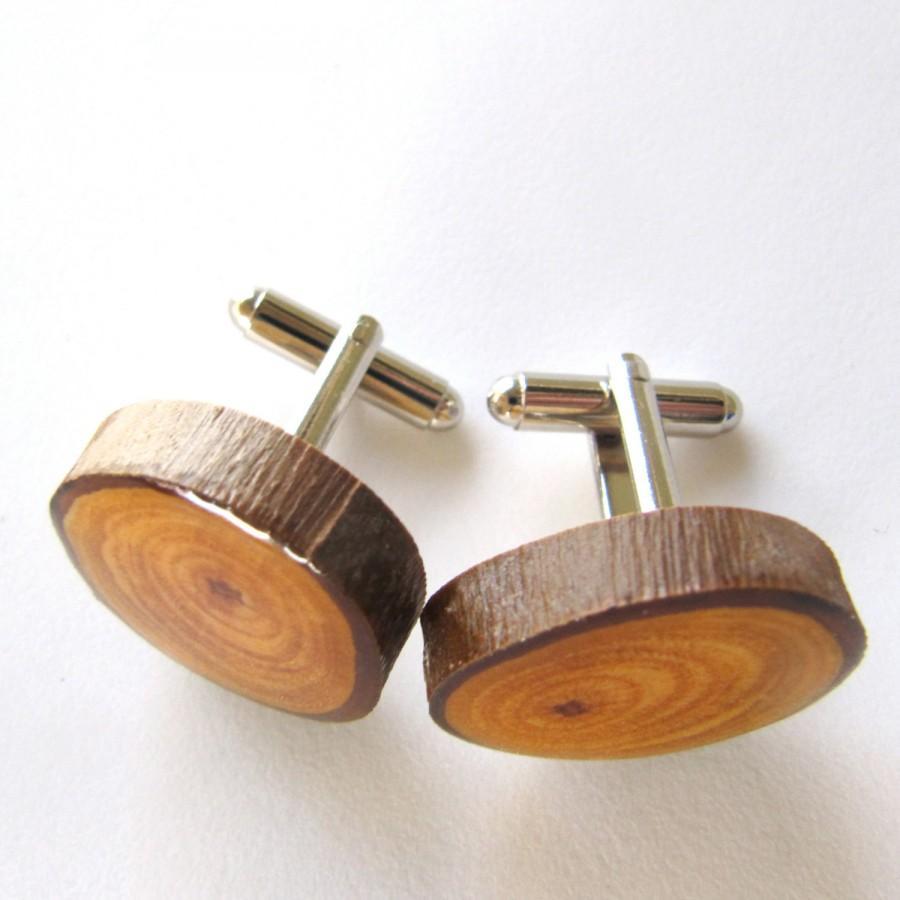 Wedding - Wood Cuff links, Groom Cuff links, Mens Cuff links, Gifts for Him, Wooden Cuff links