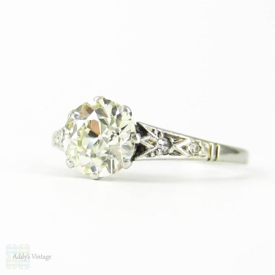 Mariage - Old European Cut Diamond Engagement Ring, 1.33 ctw Engagement Ring in PLAT Filigree Setting. Art Deco, Circa 1920s.