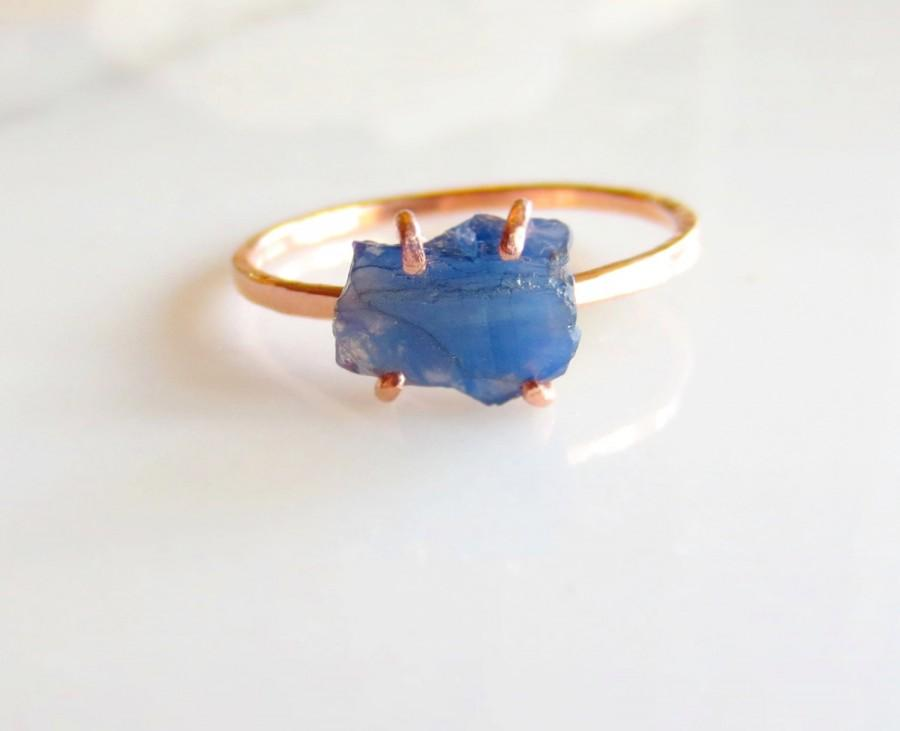 زفاف - Custom Sapphire Engagement Ring, Alternative Engagement Ring, Rough Stone Ring, Raw Uncut Blue Crystal Ring, Ring, Gold Ring Made To Order