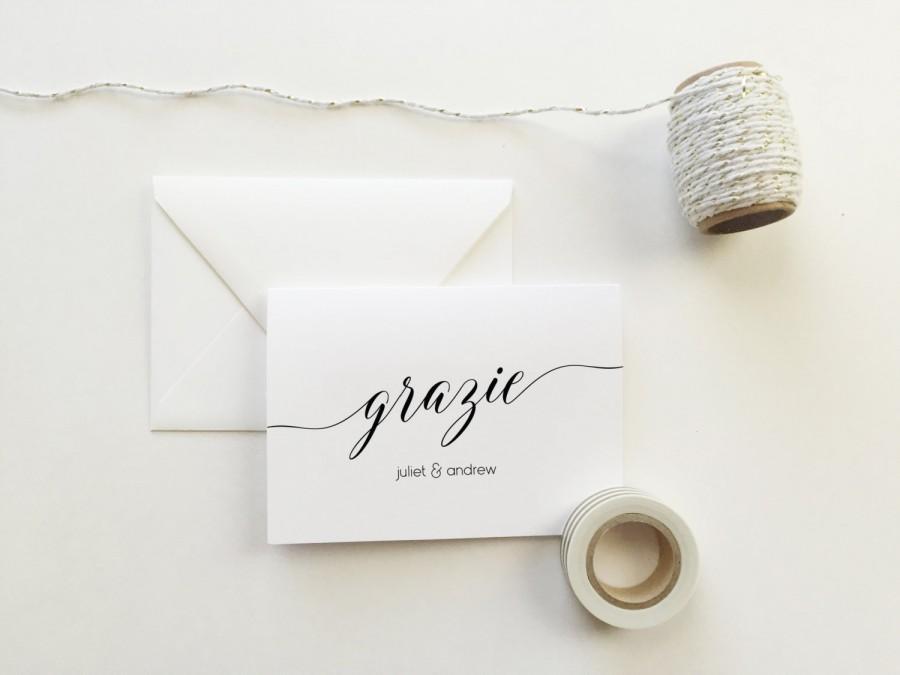 زفاف - Grazie Wedding Thank You Cards (set of 10) - Personalized thank you cards - Grazie thank you cards - modern calligraphy cards