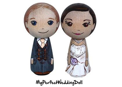 Mariage - Cake Topper/Posh Wedding/Anniversary gift/Bespoke item/Bride and Groom  - 6.5 cm tall