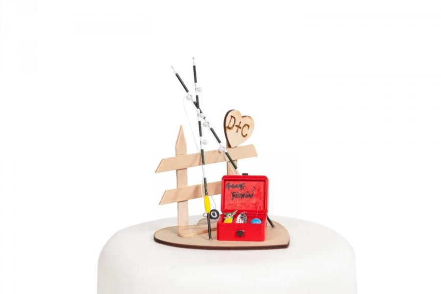 زفاف - Gone Fishin' Cake Top - 52404