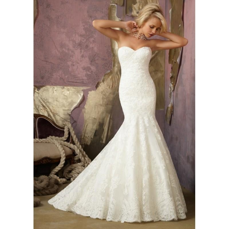Wedding - Mori Lee 1862 Strapless Lace Mermaid Wedding Dress - Crazy Sale Bridal Dresses