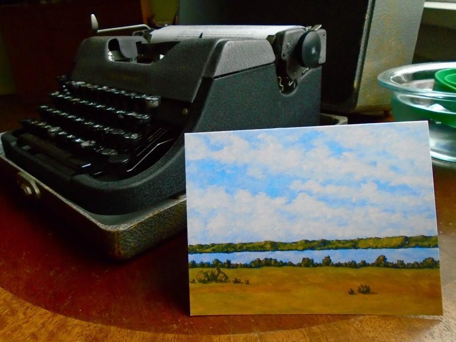 "Свадьба - Skaneateles Lake (print reproduction greeting card) 4"" x 5.5"" by Mike Kraus"