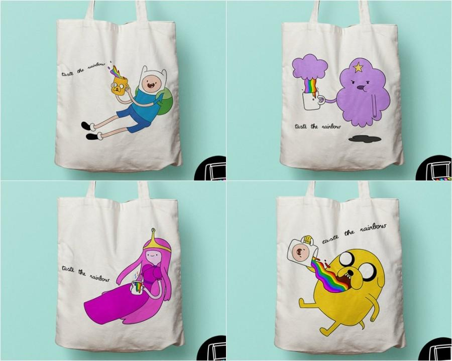 Свадьба - Kawaii tote inspired by Adventure Time