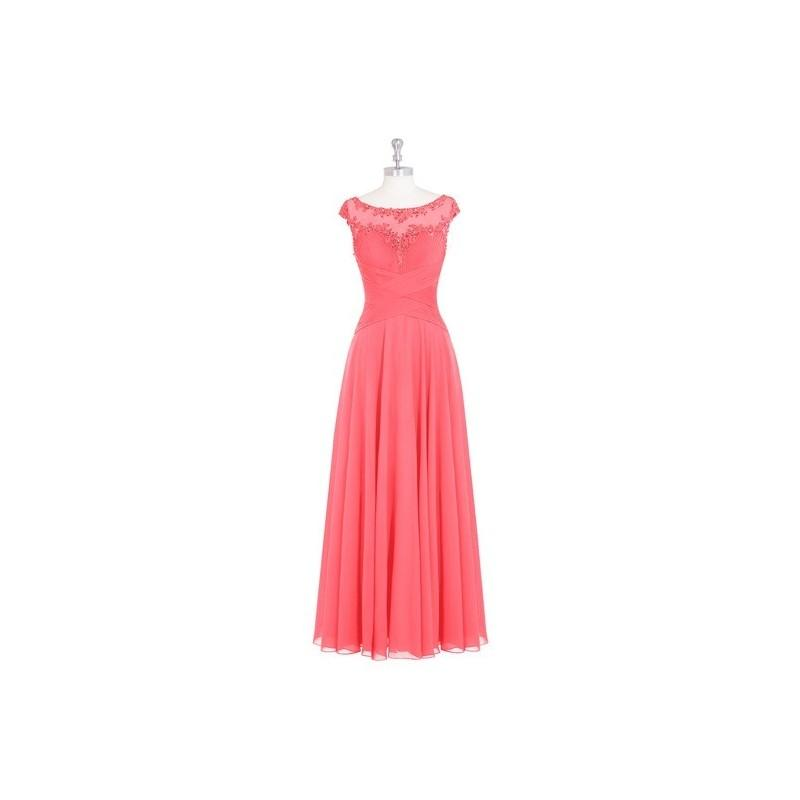 Свадьба - Watermelon Azazie Mina MBD - Illusion Illusion Floor Length Chiffon, Tulle And Lace Dress - Cheap Gorgeous Bridesmaids Store