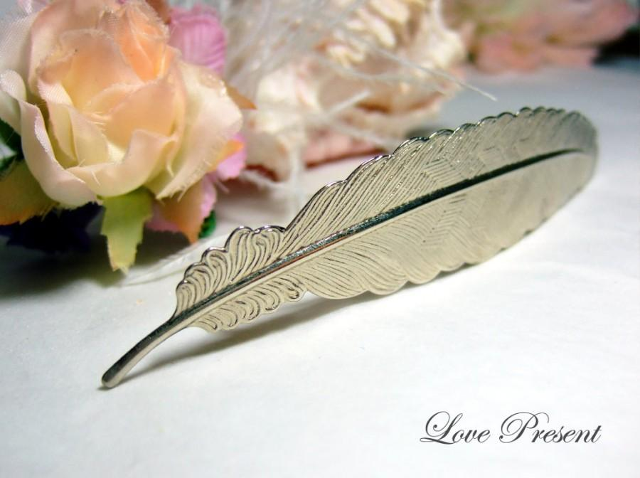 Свадьба - The Grand Feather barrette Antique Down art nouveau vintage style - Choose your color