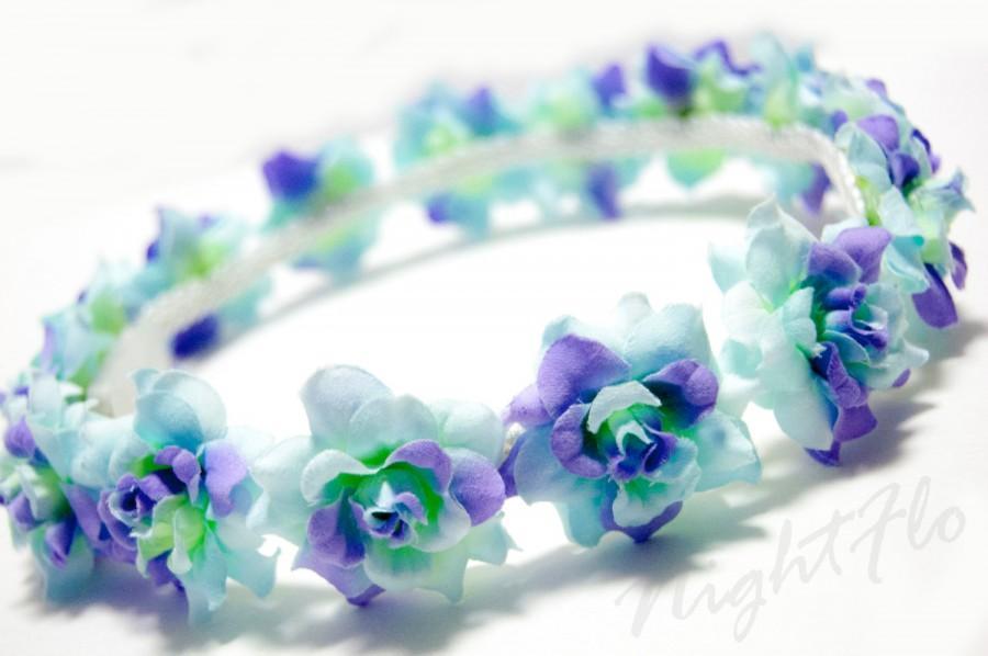 Свадьба - Turquoise Swirl Rose NightFlo (White LED) for EDC & Coachella