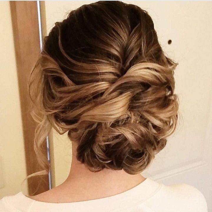 Свадьба - Beautiful Messy Updo Wedding Hairstyle For Romantic Brides