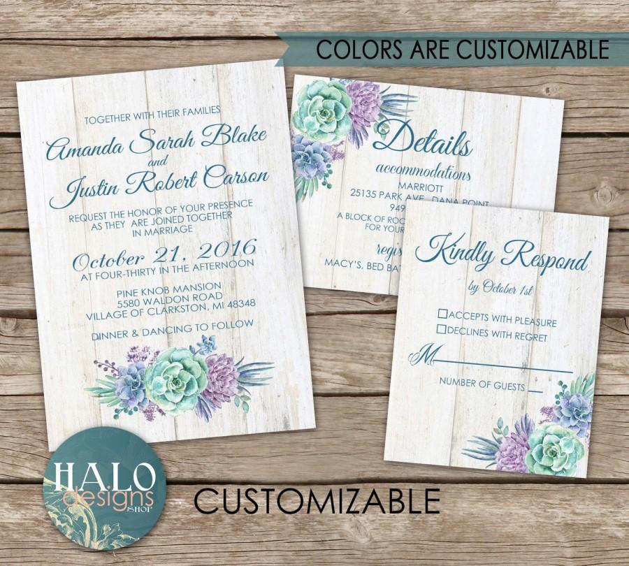 Свадьба - Succulent Wedding Invitations