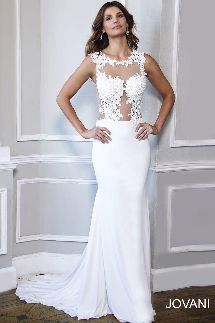 Wedding - Sleeveless Jersey Dress