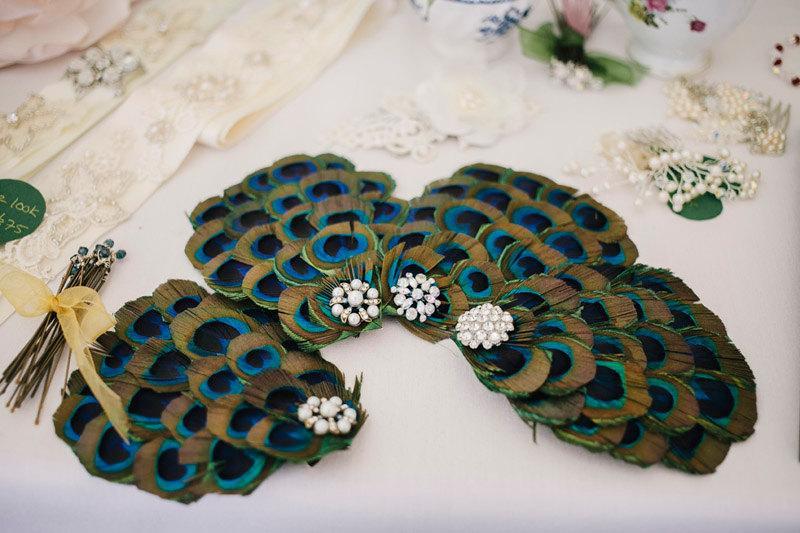 Свадьба - New handmade 1920s inspired peacock feather fascinator