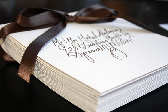 Hochzeit - SPECIAL - Custom Calligraphy Wedding or Party Invitations, Placecards and more...Featured in Etsy Finds