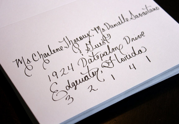 Wedding - Custom Affordable Calligraphy Wedding or Party Invitations, Placecards and more...Featured in Etsy Finds