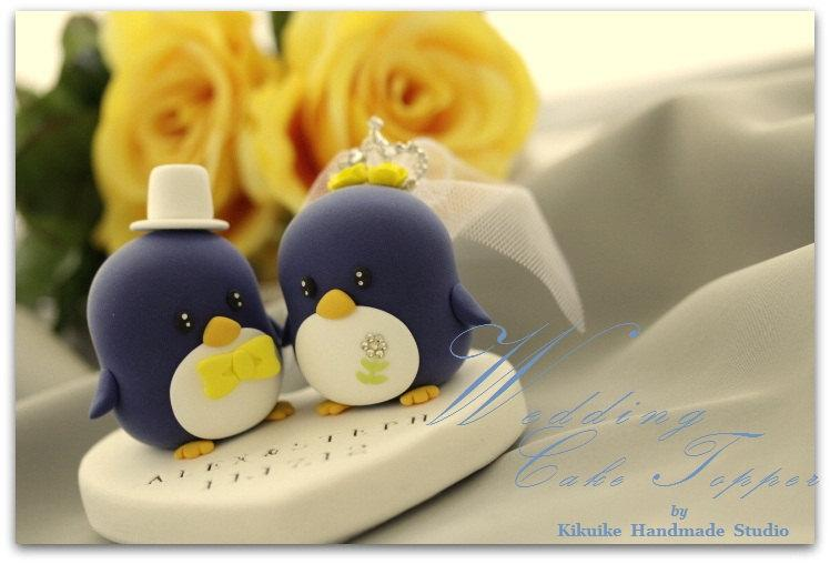 Penguins Wedding Cake Topper With Crystal Crown (K427) #2706458 ...