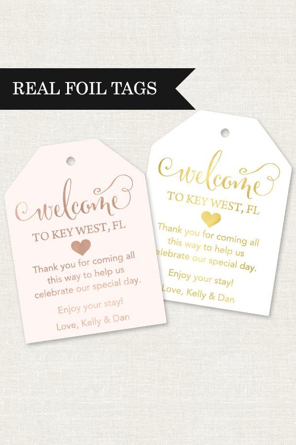 Wedding Welcome Tags Bag Out Of Town Gift For Hotel Destination