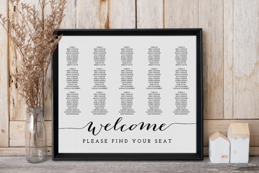 زفاف - Wedding Seating Chart, Wedding Seating Chart Template, Wedding Seating Chart Poster, Seating Plan, 18x24 Printable Seating Chart