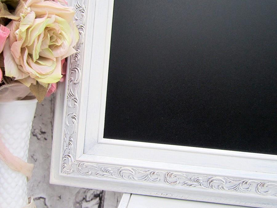 "Mariage - FRAMED WEDDING CHALKBOARDS For Sale 30""x26"" Framed Chalk board Shabby Chic Kitchen Baroque Framed Blackboard Home Office Organizer"