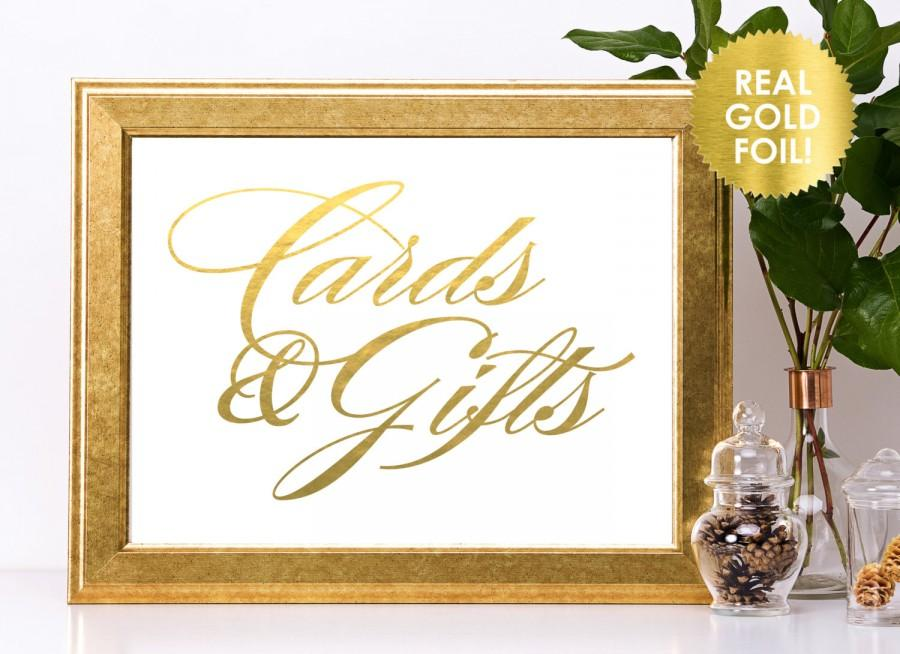 زفاف - Cards and Gifts Signs in REAL Gold, Rose Gold Signs or Silver Foil  Signs / Reception Signs  / Gift Table Signs / Lily Theme
