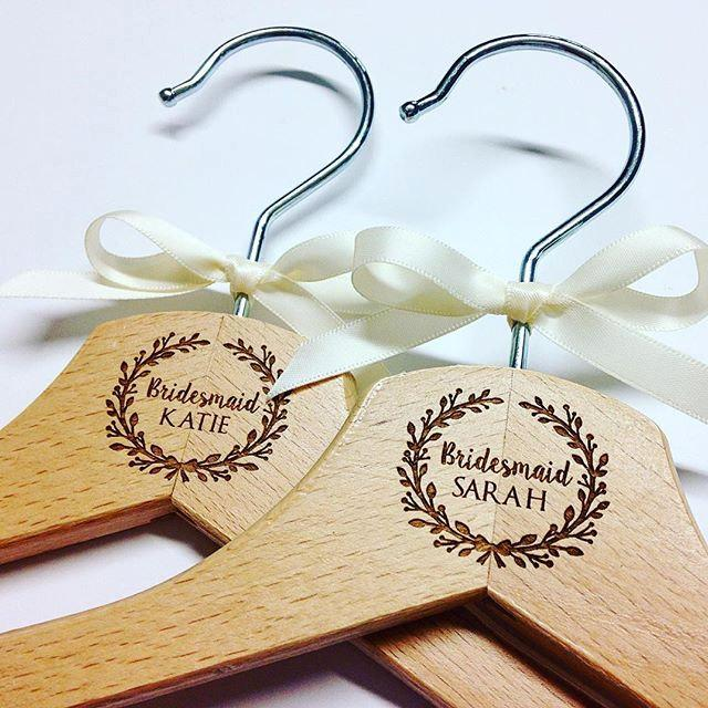 Personalised Wedding Hangers Bridal Party Dress Gift For The Bride Accessories Keepsake
