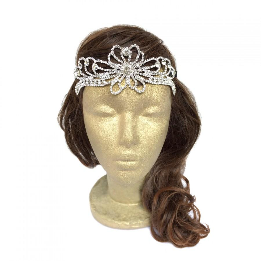 زفاف - Filigree Bridal Tiara The Ella Tiara Bridal Crown Victorian Tiara Bridal Headpiece Rhinestone Headband Princess Tiara Celtic Circlet