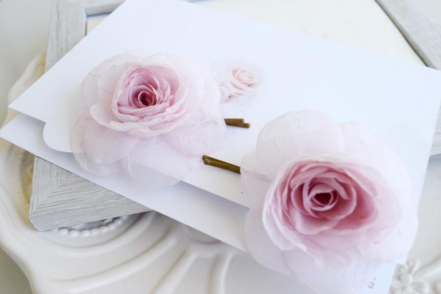 Pale pink bridal rose blush silk flower wedding hair clip bridal pale pink bridal rose blush silk flower wedding hair clip bridal flower hair clips blush headpiece flower hair pin pink hair flowers mightylinksfo