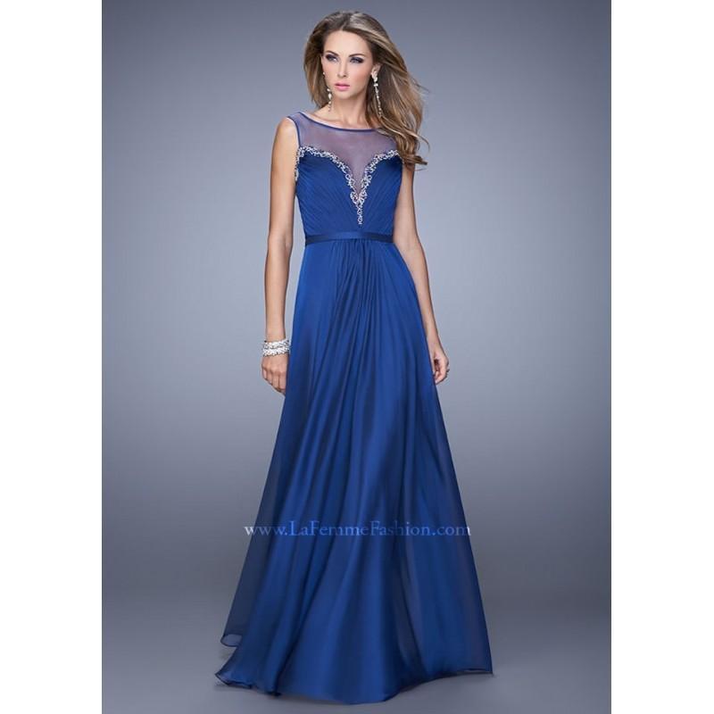 Wedding - La Femme 20956 Pleated Chiffon Dress - 2017 Spring Trends Dresses