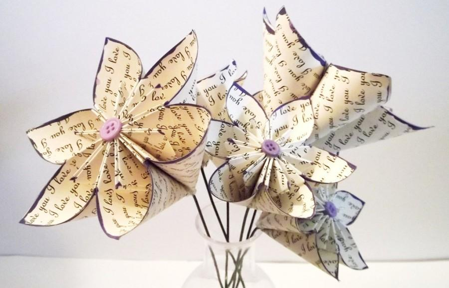 Simply Love Paper Flower Stemmed Assortment Set Of 6 Centerpiece