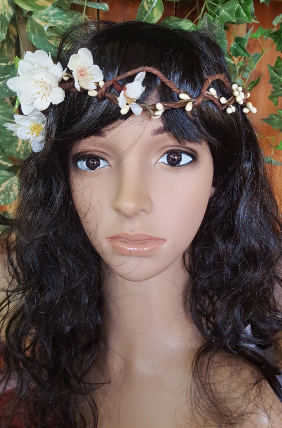 Flower Crown Floral Hair Wreath Wedding Boho Woodland Flower Halo