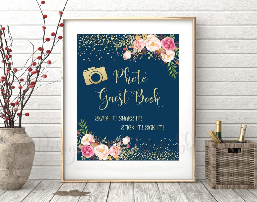 Wedding - Photo Guest book Sign Printable, Photo Guest Book Sign, Photo Wedding Guest Book, Wedding Signs, Wedding Signs Printable, Wedding sign