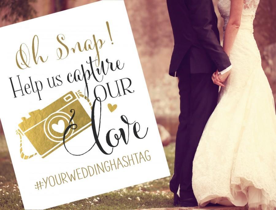 Hochzeit - Instagram Wedding Sign