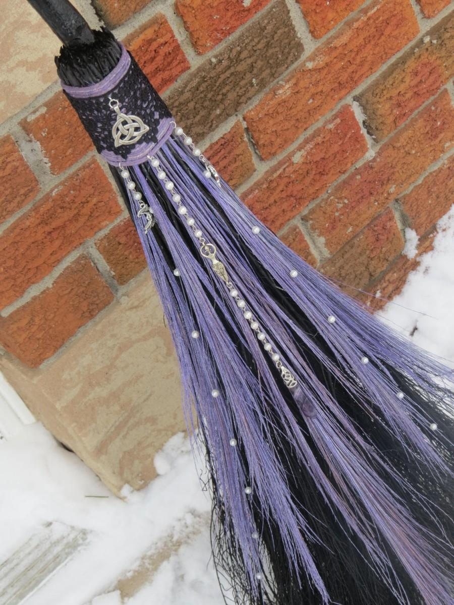 Lavender wedding broom handfasting broom purple wedding broom lavender wedding broom handfasting broom purple wedding broom wiccan wedding pagan wedding handfasting wedding witch broom jump broom junglespirit