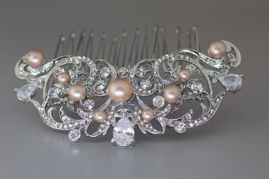 Hochzeit - Vintage Bridal Hair comb, Crystal Wedding Hair Comb, Crystal Bridal Hair comb, Bridal Hair Pin, Bridal Hair Accessory, ROCIO