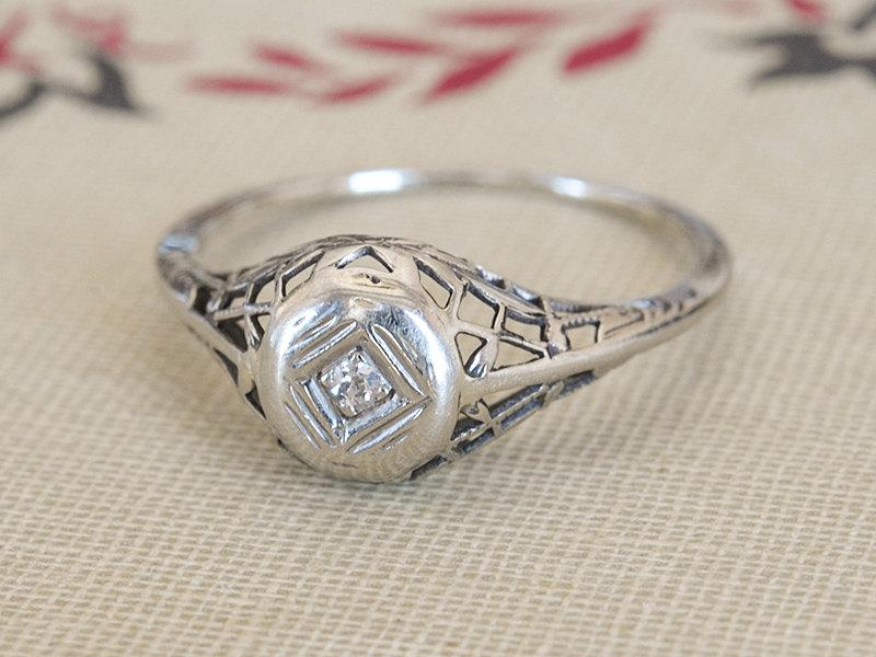 15 off antique engagement ring edwardian filigree