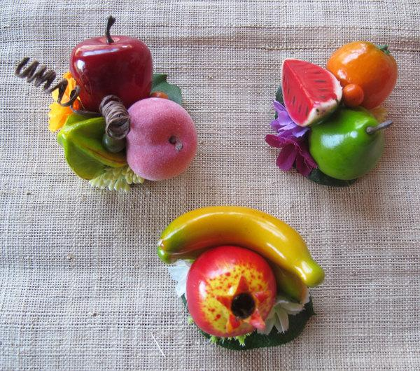 زفاف - 3 - Tropical fruits hair Clips - Carmen Miranda Style - Burlesque - Retro - Pinup -