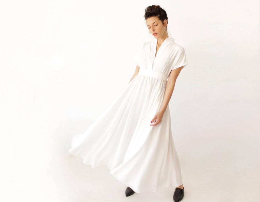 Bohemian Wedding Dress, White Maxi Dress, Alternative Wedding Dress ...