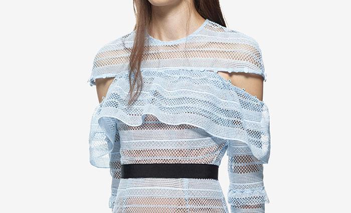 Wedding - Self Portrait Stripe Grid Mini Dress