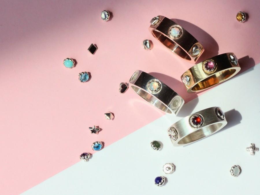 Mariage - custom ring for women custom engagement ring custom jewelry personalized ring for women initial ring custom name ring personalized name ring
