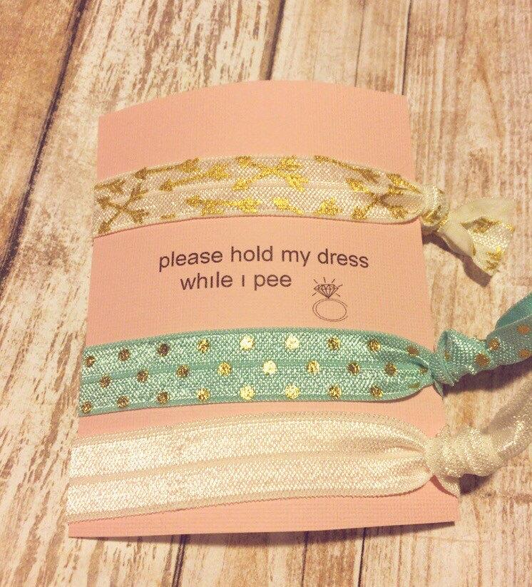 Mariage - Will you be my Bridesmaid - Hair tie Card - Hair Tie Bridesmaid Gift -maid of honor, Bridesmaid Proposal, best friend gift, bridesmaid,