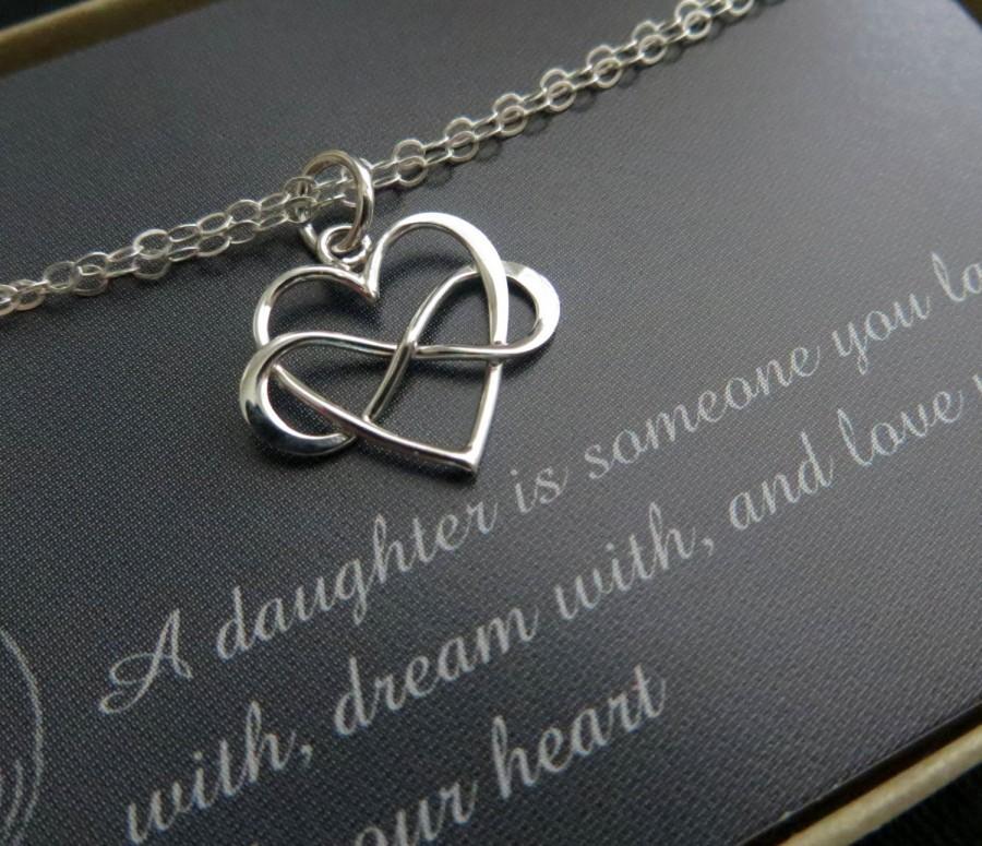 زفاف - Bridal shower gift for daughter from mom, infinity heart bracelet, love, gift for bride, wedding day, daughter bracelet