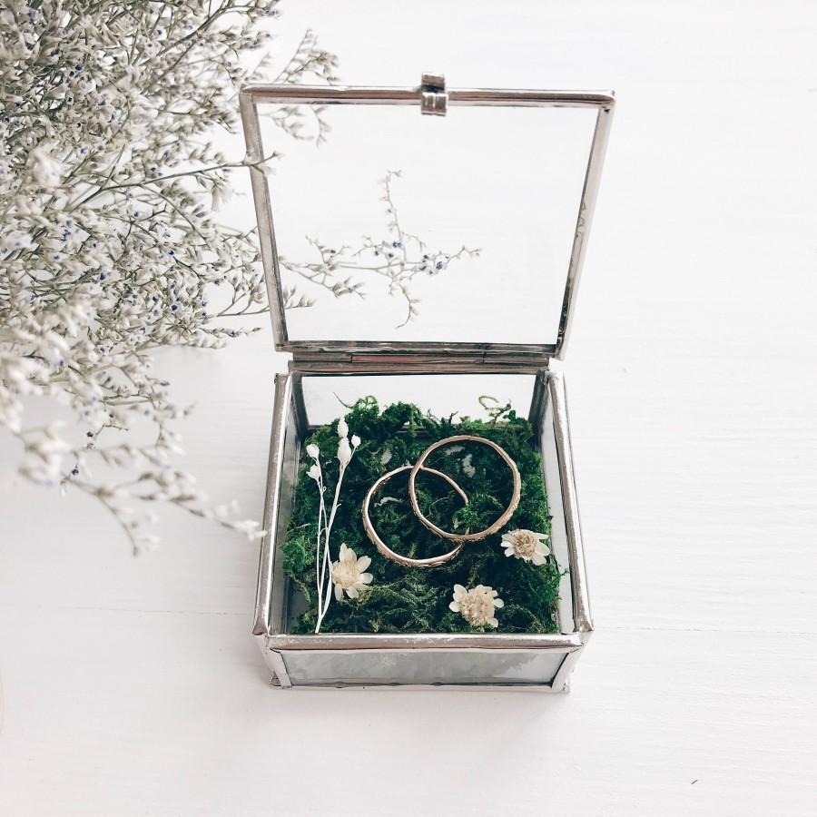 زفاف - Wedding Ring box, Glass bearer box, Wedding bearer box, Bearer Box, Wedding Ring holder, Rustic wedding, Weddings