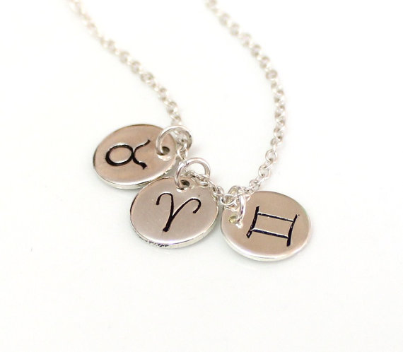 Hochzeit - Zodiac Constellation Necklace, Sterling silver BFF Jewelry, Astrology Horoscope, Gold Zodiac Necklace, Zodiac Symbol Charms, Silver Charm