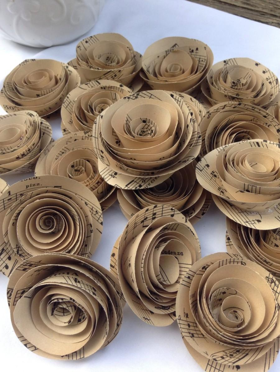 Vintage Sheet Music Sheet Music Flowers Set Of 30 Paper Roses